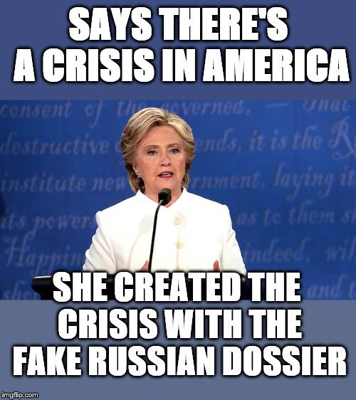 killery says crisis made crisis